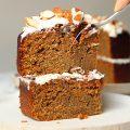 Carrot cake porción